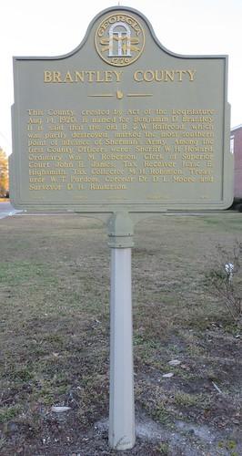 georgia ga courthouseextras brantleycounty nahunta georgiahistoricalmarkers ushighway84 northamerica unitedstates us
