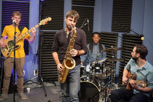 Noah Young, Brad Walker, Walter Lundy, and Danny Abel of the Noah Young Band. Photo by Ken Maldonado.