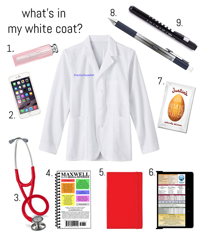 what's in my white coat