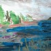 """Cattails and Lily Pads 8.27.15 a/p ~ 24 x 36"""" by M. Hoogasian"""