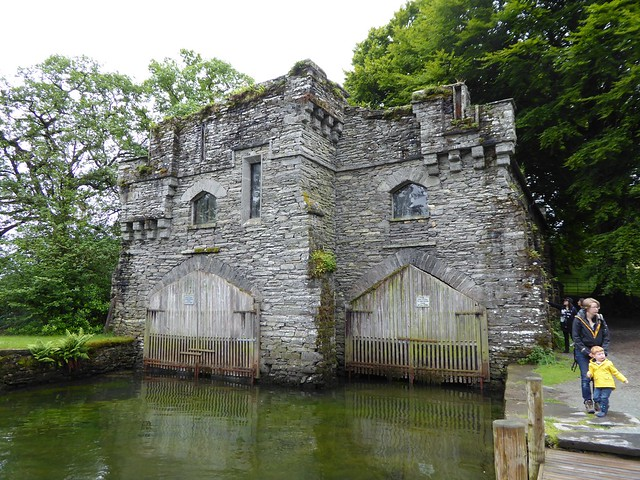 The Wray Castle boathouse