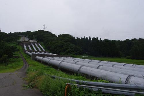 信濃川発電所高圧鉄管