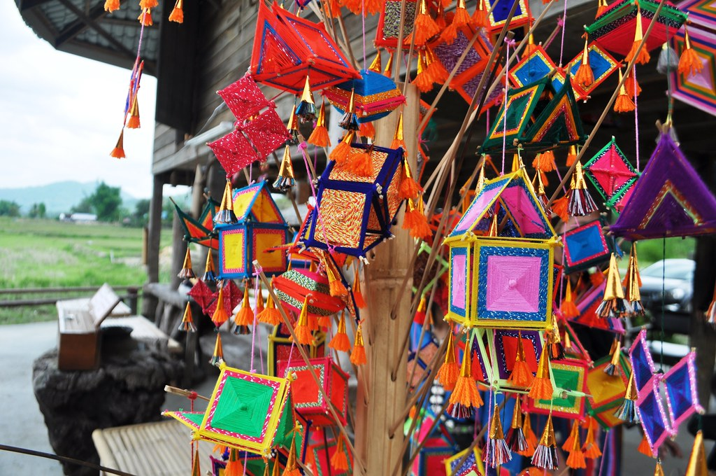 Brightly Colored Amulets at the Tai Dam House Museum - #TBEX Blogger Preview Trip, Loei Region of Thailand, March 23 - 25, 2015