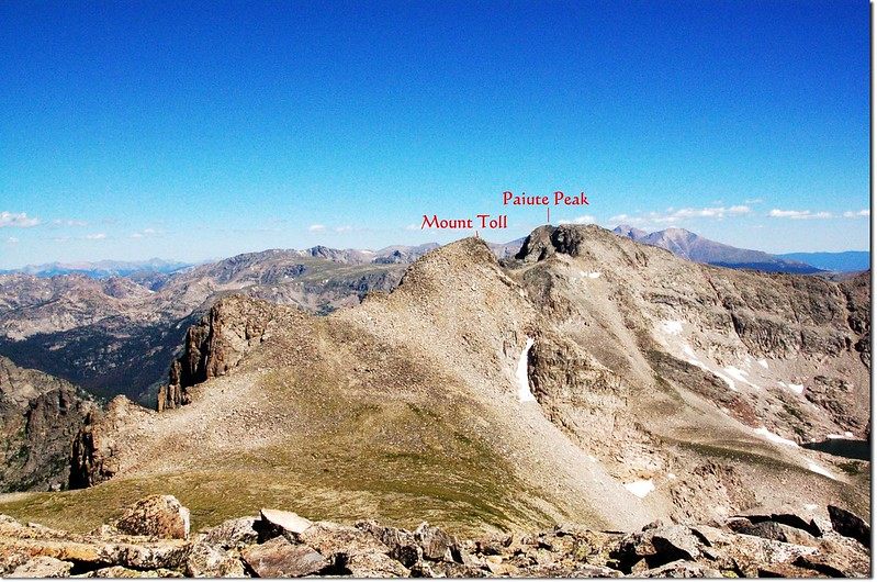 Saddle between Pawnee Peak and Mt. Toll 1