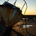 Rusty boat and sunset by bsag
