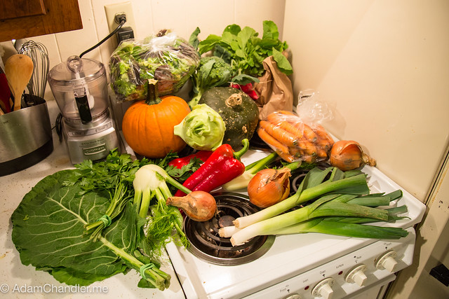 First week of October, CSA Vegetables