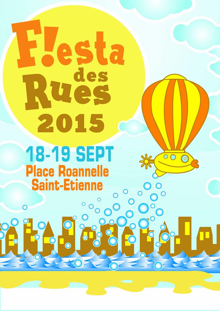 Affiche pour la Fiesta des Rues 2015