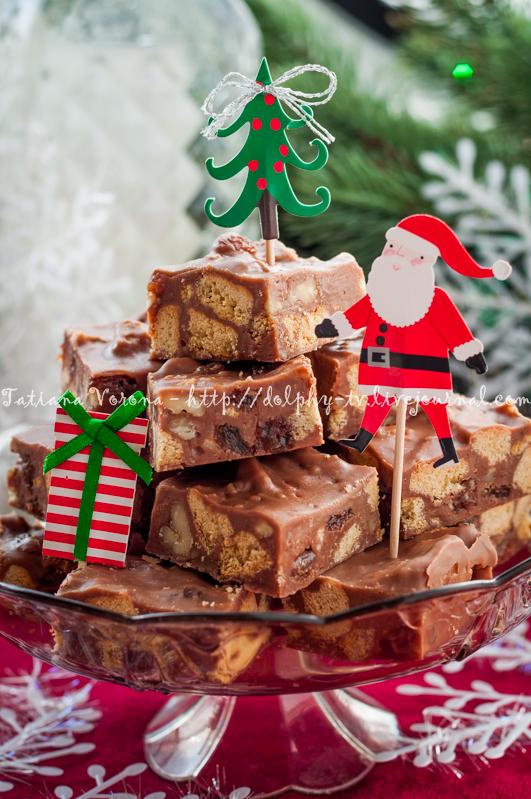 Christmas Chocolate Fudge Slices