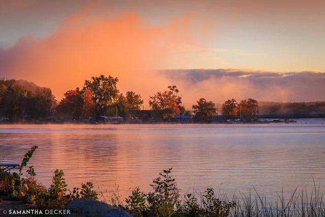A Beautiful Fall Sunrise on Saratoga Lake