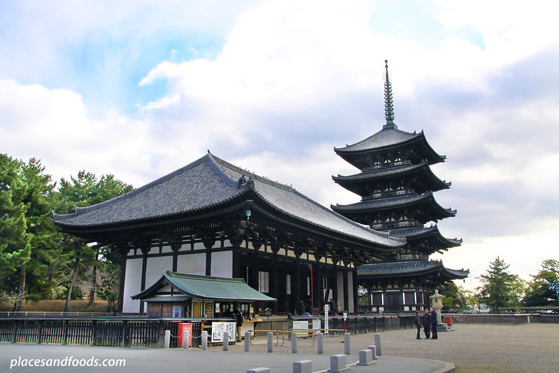 Kōfuku-ji , UNESCO World Heritage Site at Nara wide shot