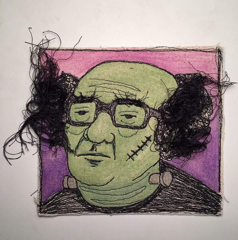 drawlloween day 13: Frankenstein