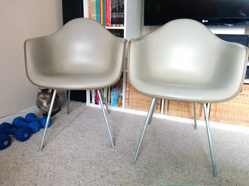 Herman Miller Eames Shell Chairs, Beige (with arms)