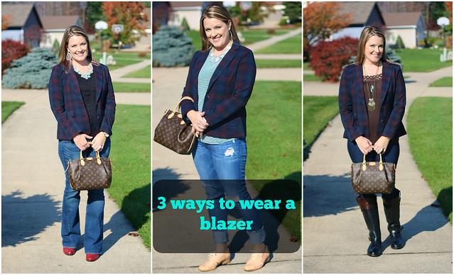 3 ways to wear a plaid blazer