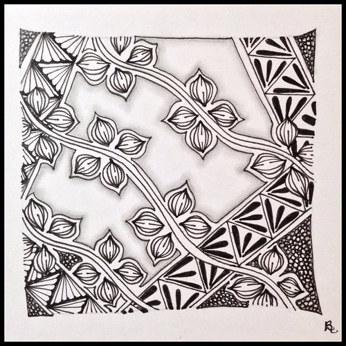 Zentangle 108 for Weekly Challenge #31: Tangle with S-F-T