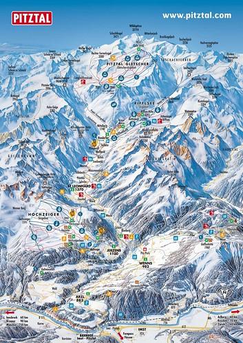 Pitztal - mapa sjezdovek
