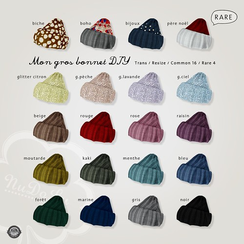 Mon gros bonnet DIY gacha all colors AD