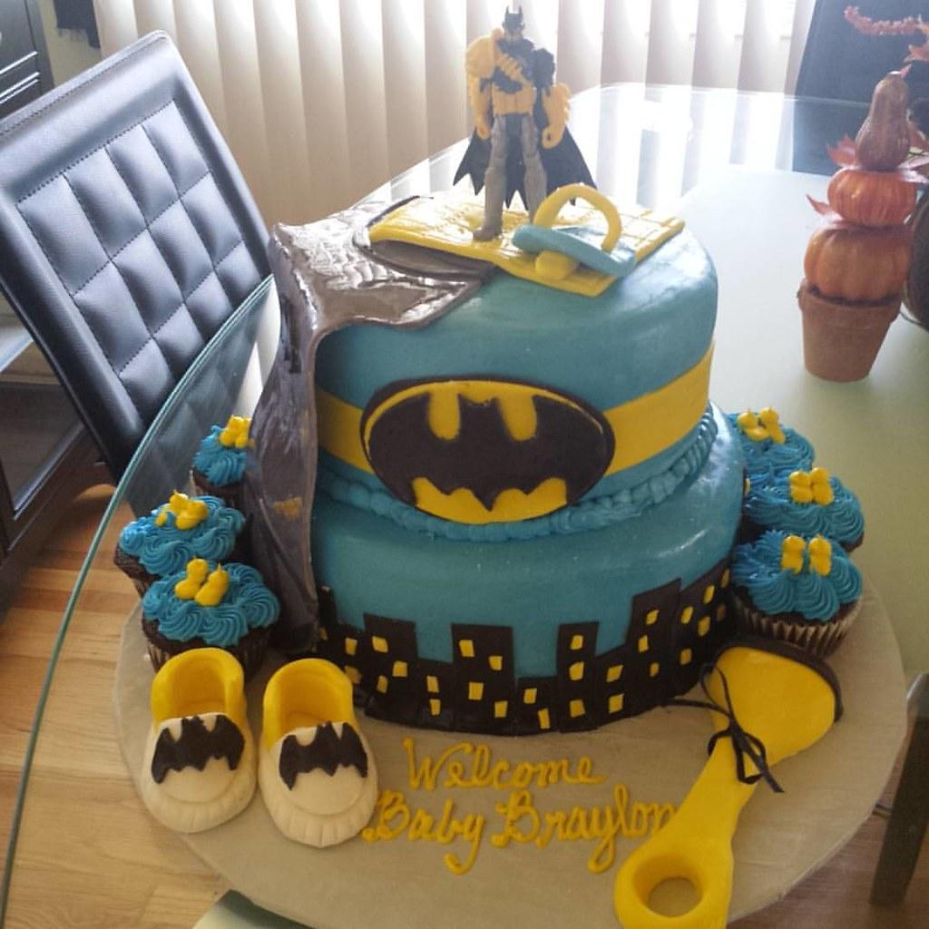 Batman Baby Shower Cake #babyshower #batman #detroitcake #detroitcakes  #sculpturedcakes #specialtycakes