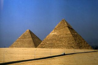 Ägypten 1983 (35) Gizeh: Die Großen Pyramiden
