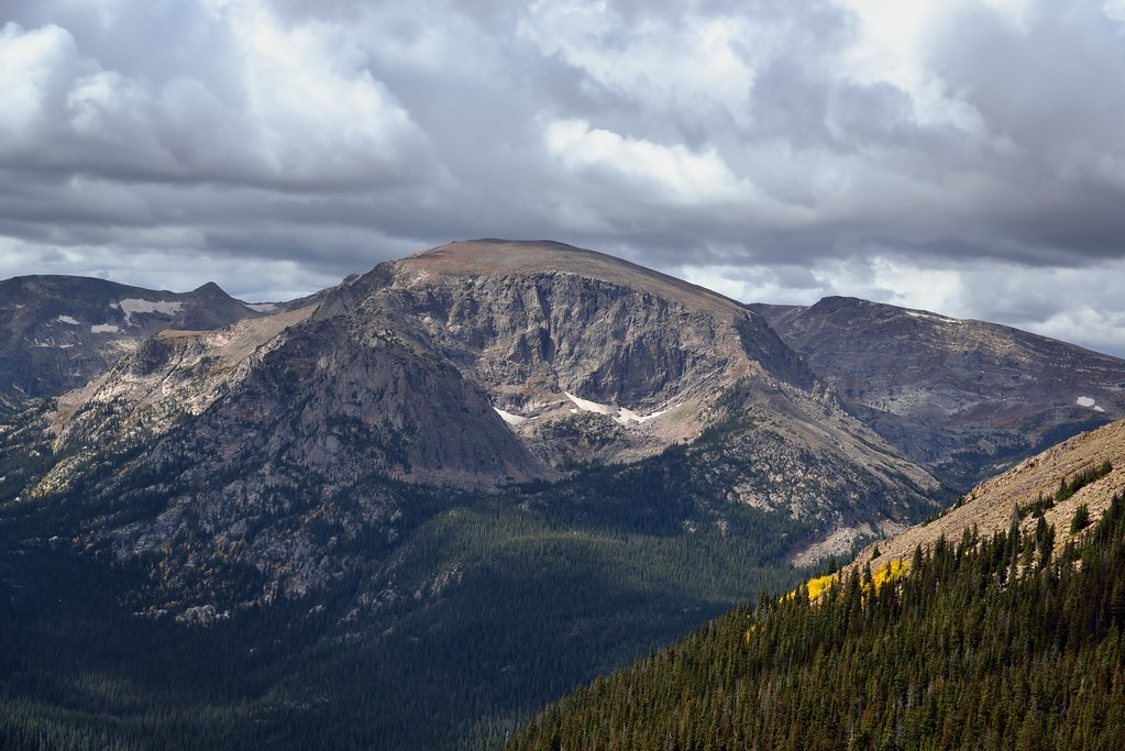 Terra Tomah Mountain and a View Across Forest Canyon (Rocky Mountain National Park)