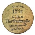 Cardboard token The Panhandle Anchorage Alaska