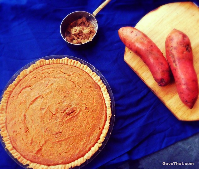 A Simple homemade Sothern Heirloom Patti LaBelle Sweet Potato Pie from scratch