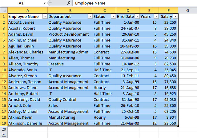 Excel Tables 4
