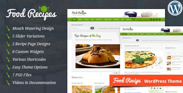 Food Recipes v2.5.0 - WordPress Theme