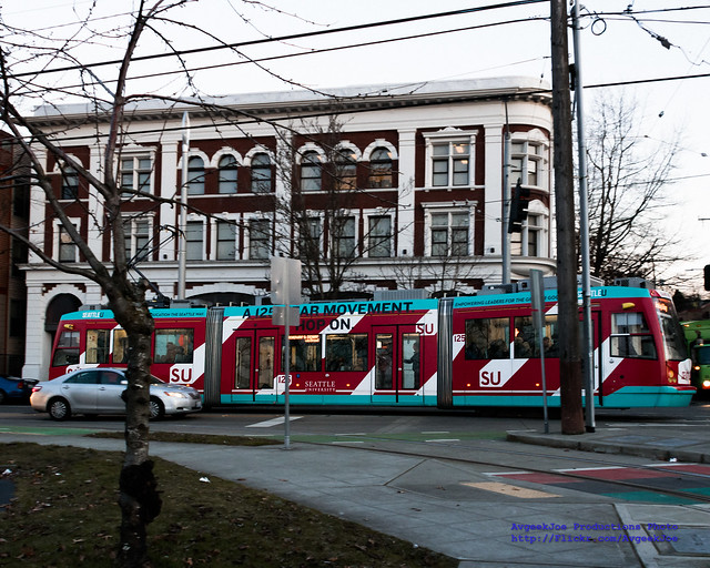 Seattle University Streetcar Running First Hill Route