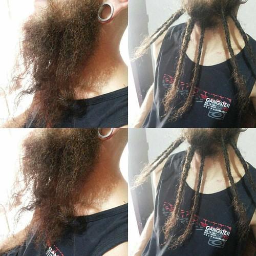 Dreads na barba do Andrew... Satisfação família!  #hospitaldodread #dreadlock #dread #dreadmaker #dreadsbrasil #instadreads #dreadnabarba #barba #dreads #dreadsp #resistencia
