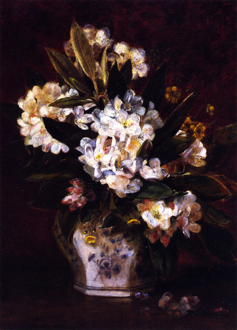 Still LIfe of Rhododendrons by Edward Lamson Henry, 1885