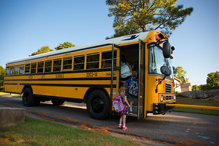 Indie's First Bus Ride, Kindergarten | by Rob Briscoe