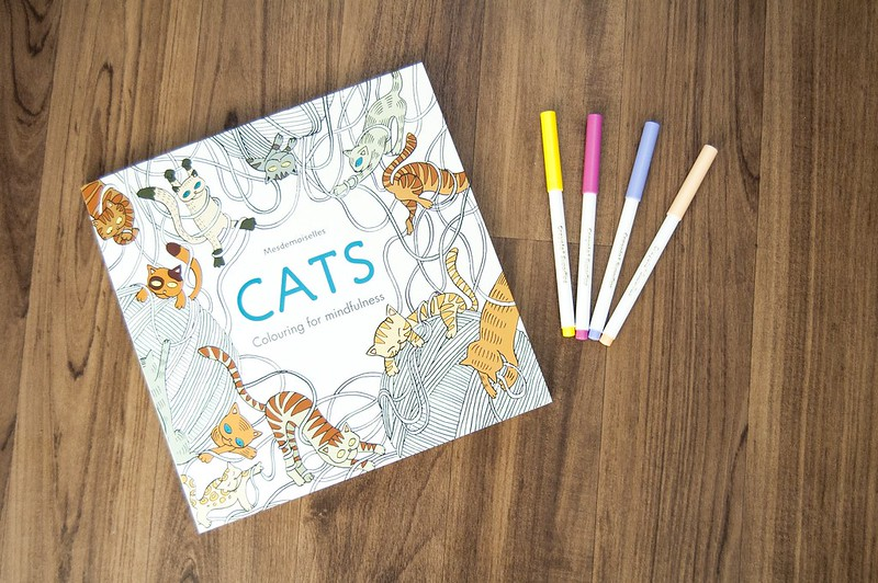 cat colouring one