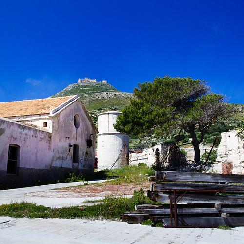 trees vacation italy holiday stone barn rural island spring ruins italia view hill it sicily sicilia crates favignana