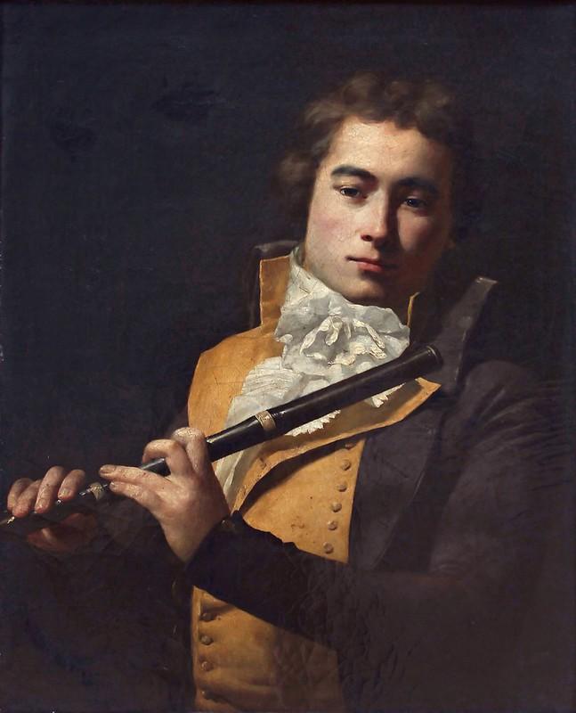Jacques-Louis David - Portait du flûtiste François Devienne (c.1792)