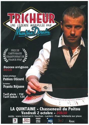 LA QUINTAINE - TRICHEUR magicien Maurice DOUDA le 2 octobre 2015 à Chasseneuil-du-Poitou - LA QUINTAINE