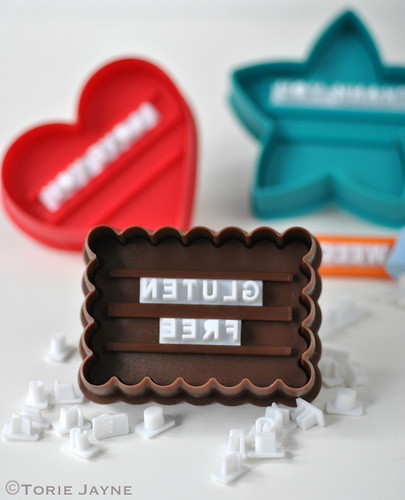 Letterpress cookie set 1