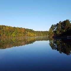 Reflective Autumn morning