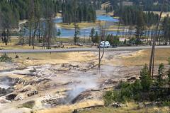 Fumaroles, Road, River
