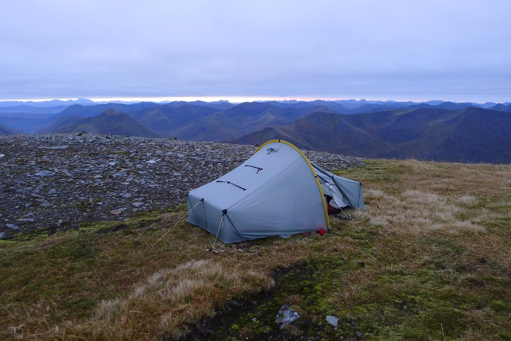 Wild camp on Sgùrr nan Ceathreamhnan