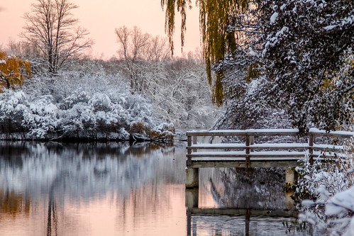 annarbor michigan dock sunrise snow pink instagram 15challengeswinner fotocompetition fotocompetitionbronze