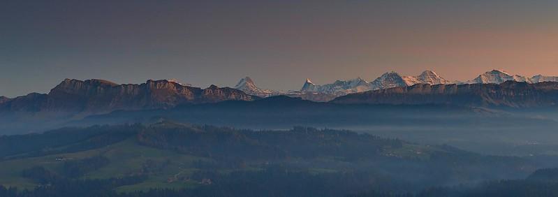 Sunset and mist - Chuderhüsi