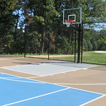 Residential Tennis Court with Basketball