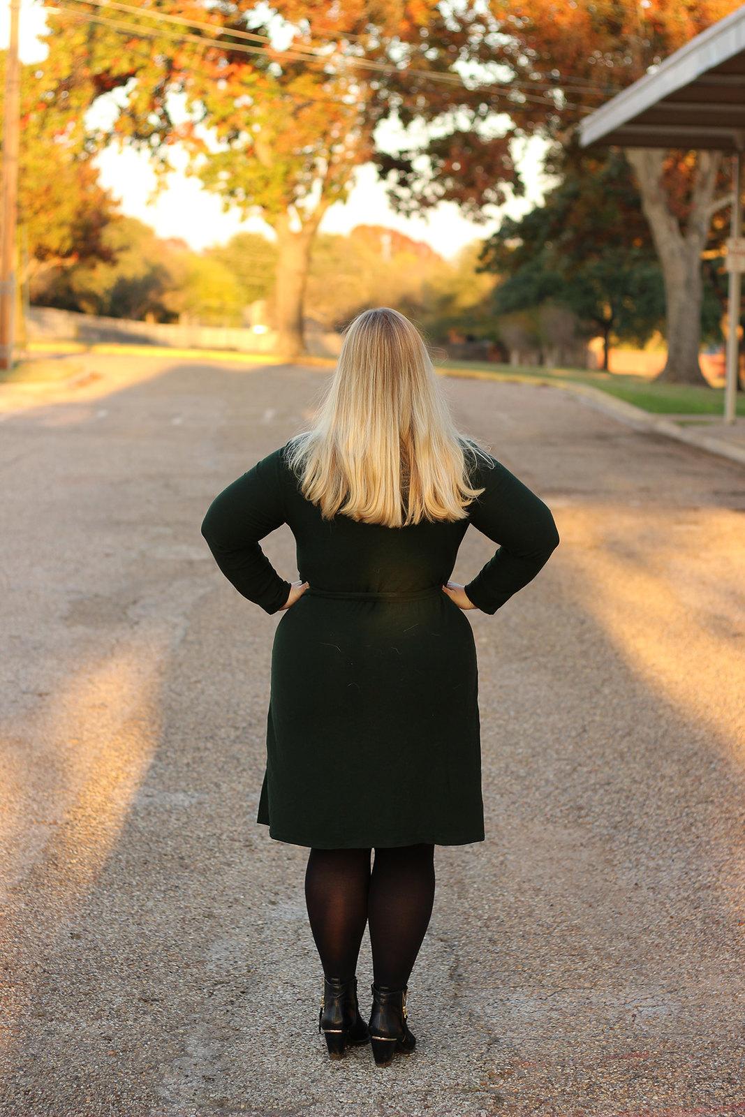 Idle Fancy - Cashmerette Appleton Dress - Green Wool Jersey-1051