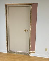 Kolbe-Fanning office door under construction