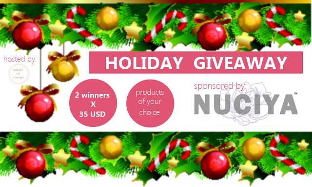 Nuciya Holiday Giveaway