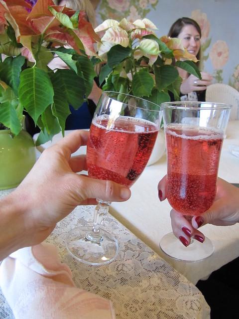 Cranberry Lemon Sparklers at Eddison & Melrose Tea Room