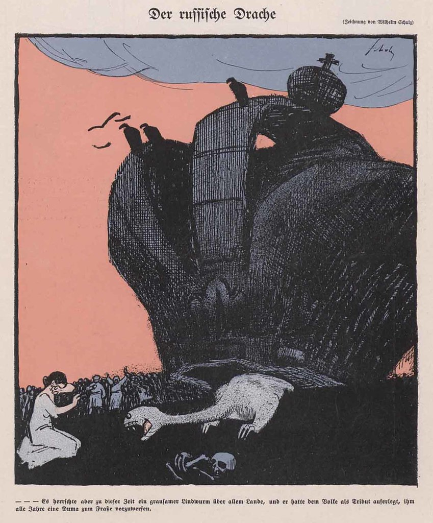 Wilhelm Schulz - The Russian Dragon, 1907