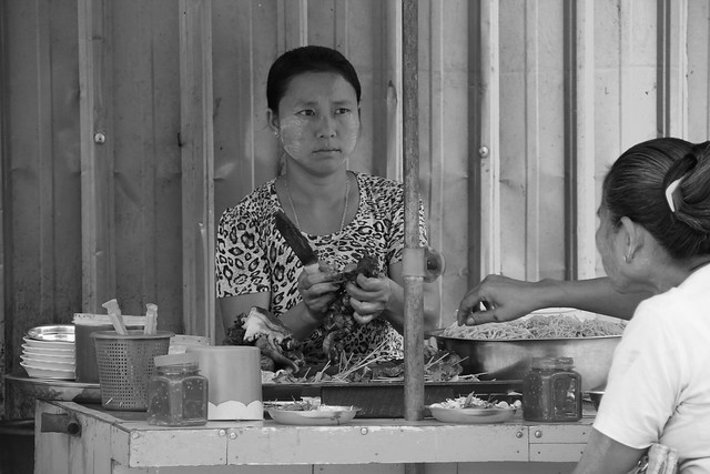 Street food vendor in Myanmar