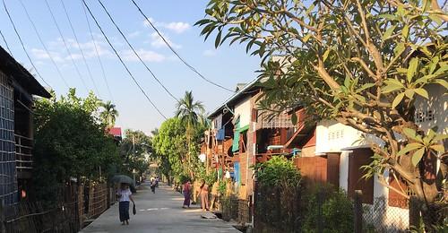 streetscene settlement myanmar burma bicycle cycling mon monstate thatondistrict thaton paungtownship paung innpyaung
