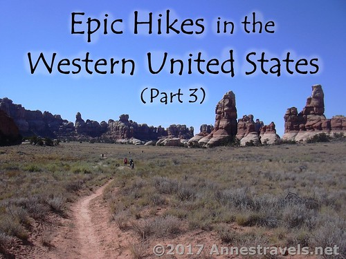 Hiking through Chesler Park in Canyonlands National Park, Utah